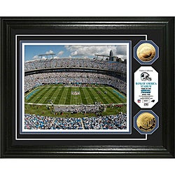 Highland Mint Carolina Panthers Bank of America 24k Gold Coin Photo Mint