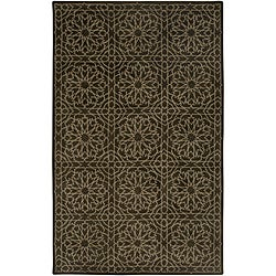 Hand-tufted Averlo Brown Rug (9' x 12')