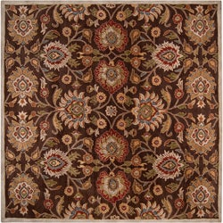 Hand-tufted Wool Chocolate Waltzer Rug (9'9 x 9'9)