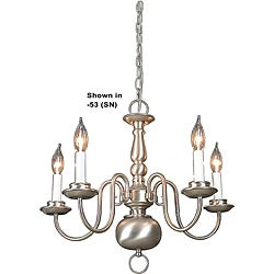 Five-light Oil Rubbed Bronze Chandelier