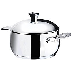 Art & Cuisine Chaudron 11.1-quart Stainless Steel Pot with Lid