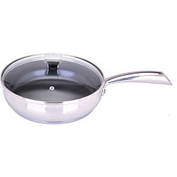 Art cuisine chaudron 11 inch stainless steel deep frypan for Art and cuisine ceramic cookware