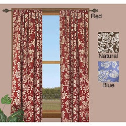 Federal Floral 63-inch Curtain Panel (Set of 2)