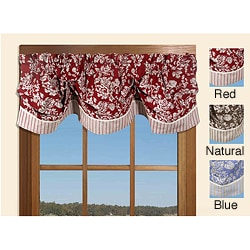 Federal Floral 21-inch Striped Valance