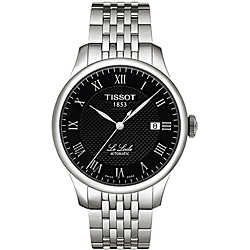 Tissot Men's 'Le Locle' Textured Black Dial Watch