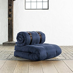 Fresh Futon 'Buckle Up' Navy Futon Chair