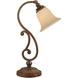 Aztec Lighting Traditional 1-light Golden Bronze Desk Lamp