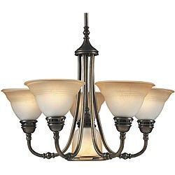 Aztec Lighting Transitional 6-light Antique Brass Chandelier