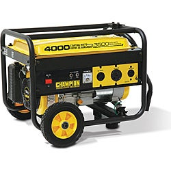 Champion 4000 Watt Air Cooled Portable Generator With RV Outlet and Wheel Kit