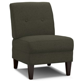 Portfolio Engle Basil Grey Linen Armless Chair