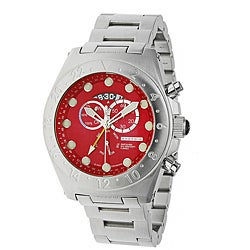 Android Men's 'Antiforce' Power Reserve Red Dial Stainless Steel Bracelet Watch