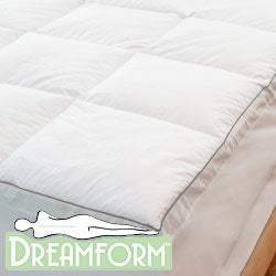 Dream Form Sateen Twin-size Memory Foam Mattress Topper Cover