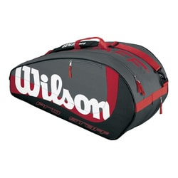 Wilson Grey/ Red/ White Pro Staff Tennis Bag
