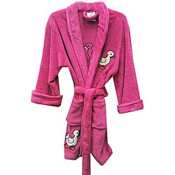 Aegean Apparel Women's Fuchsia 'Lucky Duck' Plush Bathrobe