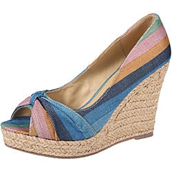 Refresh by Beston Women's 'VALERIE-01' Peep Toe Espadrilles