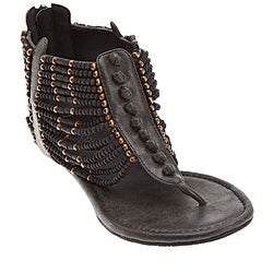 Matisse Women's 'Aztec' Black Beaded Sandals