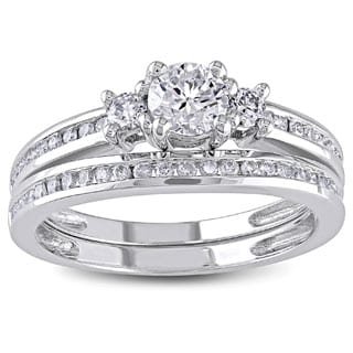 Miadora Signature Collection 14k White Gold 1ct TDW Diamond Bridal Ring Set (G-H, I1-I2)