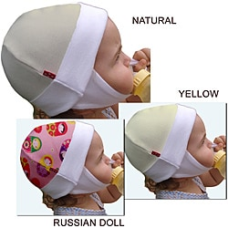 Dots On Tots Organic Cotton Fleece Baby Ear Flap Hat