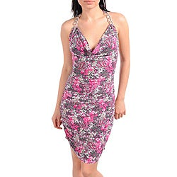 Stanzino Women's Fuschia/ White Floral Dress