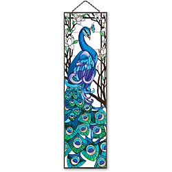 Joan Baker Hand-painted 'Peacock' Art Panel