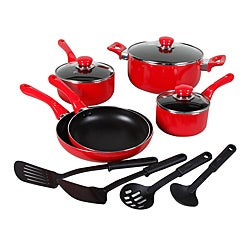Everton 12-piece Red Cookware Set