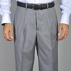 Men's Light Grey Single Pleat Pants