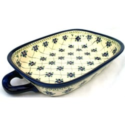 Polish Pottery/ Stoneware 14-inch Lasagna Pan with Handles (Poland)