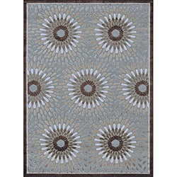 Madison Grey and Brown Rug (7'7 x 10'6)