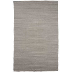 Flat Weave Solid Ashwood Wool Rug (8' x 10')