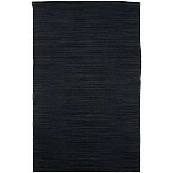 Flat-weave Blue Wool Rug (4&#39; x 6&#39;)