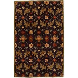 Hand-tufted Coffee Wool Rug (8' x 11')