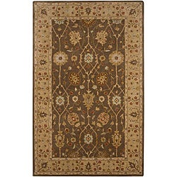 Hand-tufted Brown/ Sand Wool Rug (9'6 x 13'6)