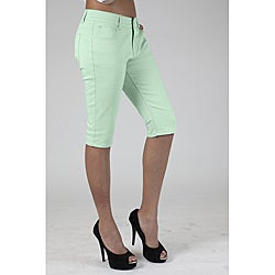 MDZ Junior's June Mint Green Denim Capris