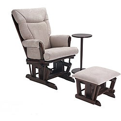 OEKO Reagan Glider with Ottoman and Side Table