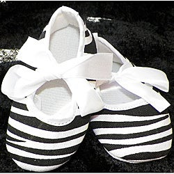 Just Girls Zebra Baby Crib Shoes