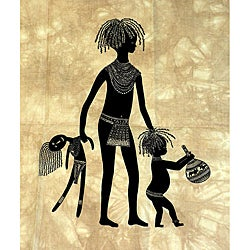 Heidi Lange Screen Print - Child With Doll (Kenya)
