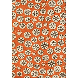 Alliyah Handmade Coral Rose New Zealand Blend Wool Rug (5' x 8')
