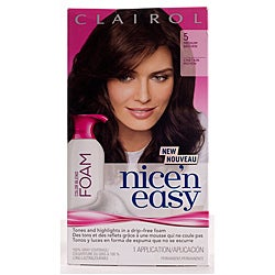Clairol Nice'n Easy Foam #5 Medium Brown Hair Color (Pack of 4)