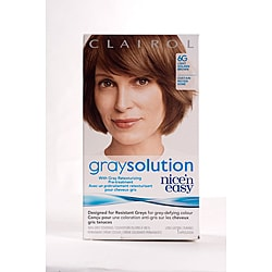 Clairol nice n easy gray solution permanent hair color in medium dark brown hairs - Easy hair care solutions ...