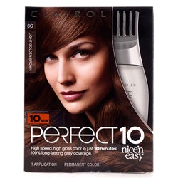 Clairol Nice'n Easy Perfect 10 #6G Light Golden Brown (Pack of 4)