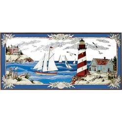 Joan Baker Hand-painted Summer Shores Art Panel