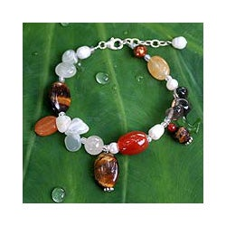 Pearl 'Sun Goddess' Multi-gemstone Bracelet (6 and 10 mm) (Thailand)