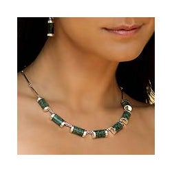 Sterling Silver 'Sweet Maya' Jade Necklace (Guatemala)