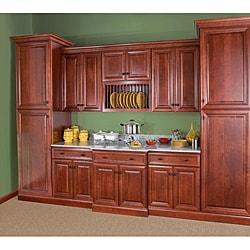 Cherry Stain/Chocolate Glaze Wall Blind Corner Kitchen Cabinet (30x30)