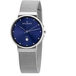Skagen Men's Mesh Blue Dial Watch