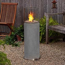 Real Flame 'Modesto' 39-inch Concrete Fire Column