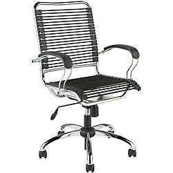Bungie High Back J-arm Black/ Chrome Office Chair