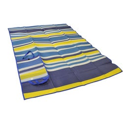 Foldable Blue/ Yellow Striped Travel Mat