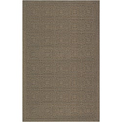 Transom Brown/ Taupe Rug (5' x 8')