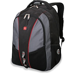 SwissGear Black/ Grey/ Red 17-inch Laptop Backpack